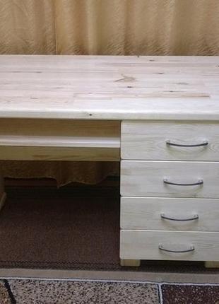 Дерев'яний письмовий стіл3, без викрутасів, під замовлення