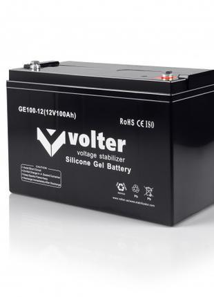 Усиленная аккумуляторная батарея Volter GE 12V-H100Ah гелевая