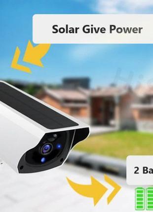 Камера видеонаблюдения беспроводная IP Wi Fi  с солнечной бата...