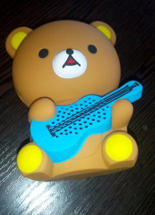 Bluetooth колонка CD-1 Funny Teddy Медведь с гитарой