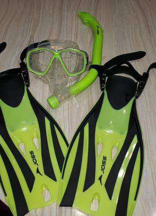 Ласты, маска, трубка Joss для плаванья 32-34 р