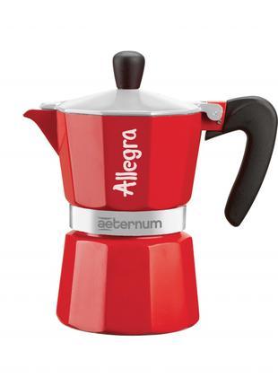 Гейзерная кофеварка Bialetti Allegra Aeternum Red 3 чашки 170 мл