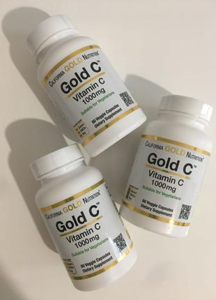 Витамин С California Gold Nutrition 1000 мг, 60 шт