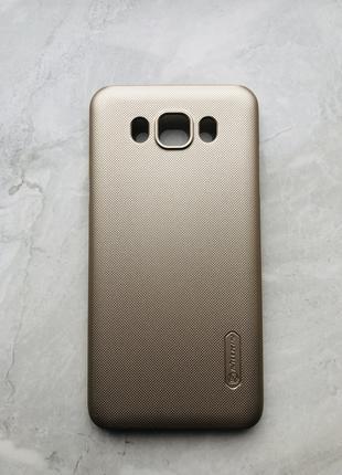 Чехол для Samsung J7 2016 фирменный Nillkin J7108 Gold