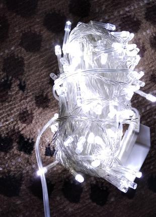 гирлянда белая  200 лед