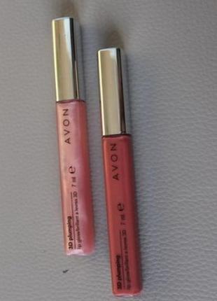 Блеск для губ 3d объем светло-розовый nude avon mark