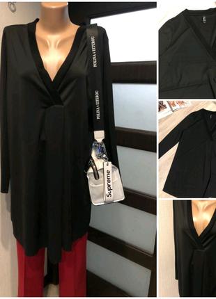 Крутая черная блузка рубашка кофточка