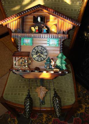 Настенные часы музыкальная кукушка с анимацией из Америки