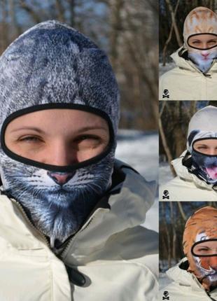 Балаклава, маска, подшлемник с 3д принтом