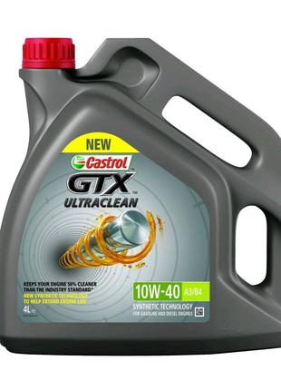 Масло моторное Castrol GTX Ultraclean 10W-40, 4 л