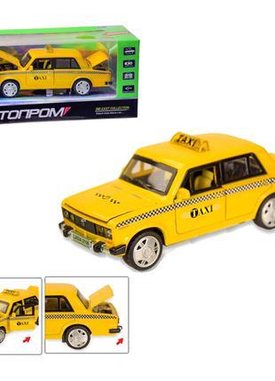 "Машинка ""ваз 2106 такси"", машина такси желтого цвета"