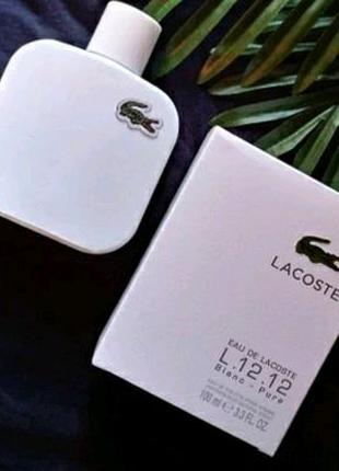 Мужская Туалетная вода Lacoste L.12.12 Blanc-Pure Лакост белый