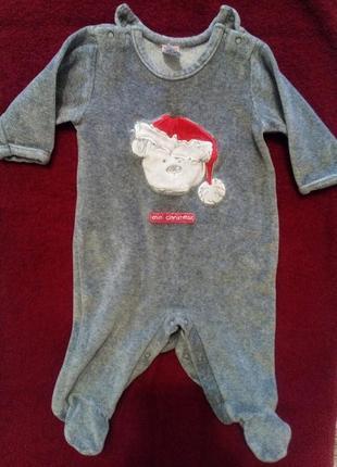 Человечек на рождество,новый год,костюм,0-3 мес,слип