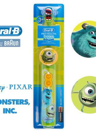 Детская электрическая зубная щетка Disney Monsters Braun Oral-B