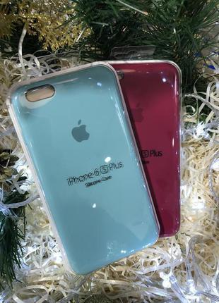 Чехол silicone case iPhone 6s Plus 6 Plus rose red mint