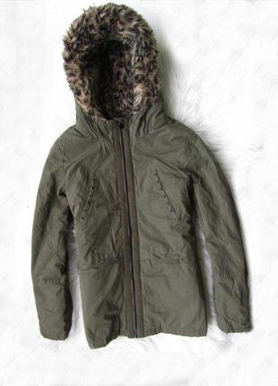 Стильная теплая зимняя куртка парка с капюшоном ikks