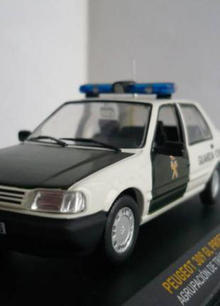 Peugeot 309 полиция Испании 1:43 Altaya