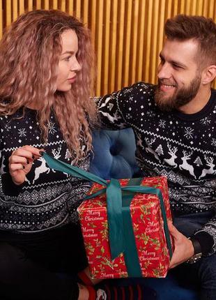 Мужский новогодний свитер с оленями