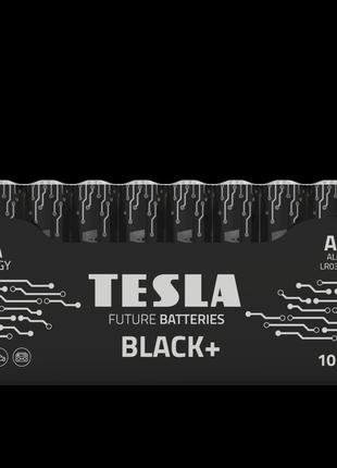Щелочные батарейки TESLA BLACK+ ААА 10шт.