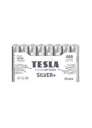 Щелочные батарейки TESLA SILVER+ ААА 24шт.