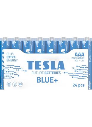 Солевые батарейки TESLA BLUE+ ААА 24шт.
