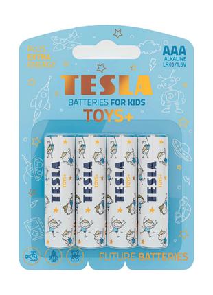 Щелочные батарейки Tesla Toys+ AAA 4шт.