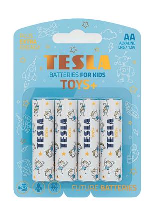 Щелочные батарейки Tesla Toys+ AA 4шт.