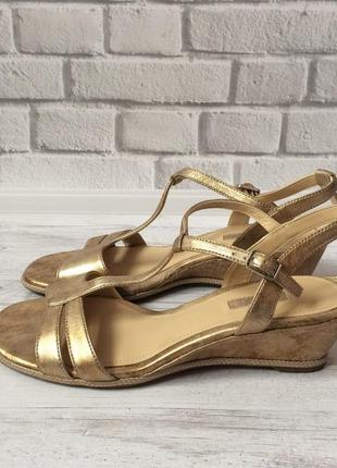 Новые кожаные босоножки сандалии ecco оригинал 41 размера