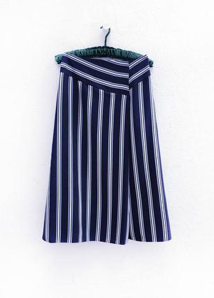 Актуальная юбка миди в полоску marks & spencer