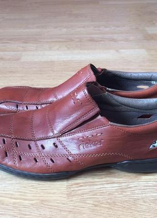 Новые кожаные туфли rieker германия 46 размера