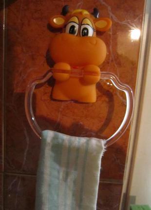 Органайзер, держатель для полотенец веселые зверята бычок