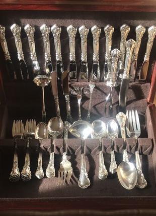 Столовое серебро (925) GORHAM набор 6 (12) персон+сервировка