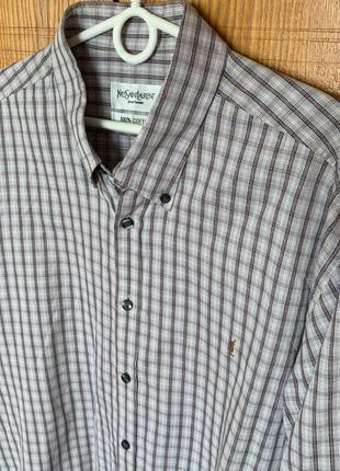 Мужская рубашка в клетку yves saint laurent