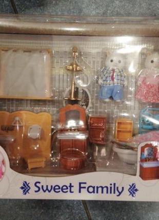 Sweet family Набор мебели для ванной комнаты с флоксовыми котятам