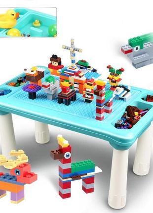Развивающий столик с конструктором Игры с лего, песком 316деталей