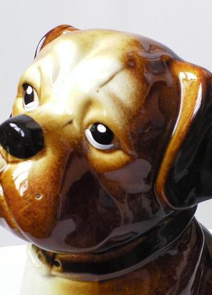 Боксер собака щенок,копилка,керамика.статуэтка