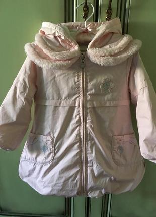 Демисезонное пальто pampolino на 3-4 года
