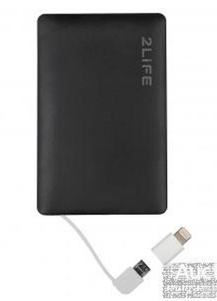 Портативная батарея со встроенным кабелем УМБ Power Bank 2Life