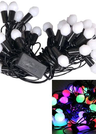 Гирлянда светодиодная новогодняя цветная Шишки 40 LED ламп 5.8м