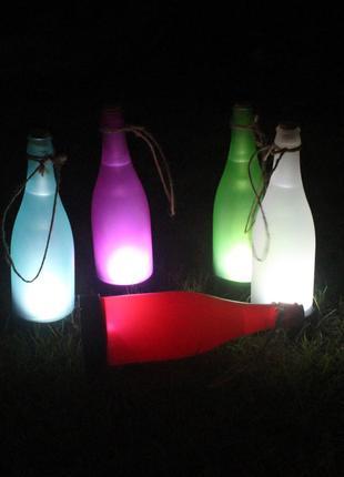 Фонарик на солнечной батарее в виде бутылочки,ночник.подсветка.ук