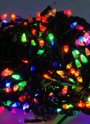 Гирлянда светодиодная LED 500 мультик черный