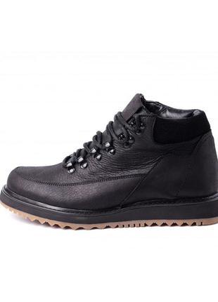 Ботинки кожаные мужские зимние с мехом