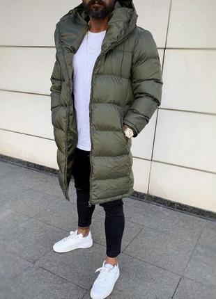 Куртка зимняя удлиненная зимняя мужская