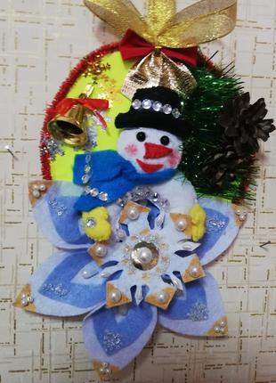 Новогоднее панно из фетра