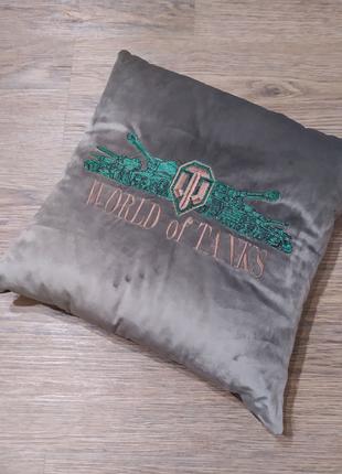 Подушка подарок парню мужу world of tanks рождения 23 февраля