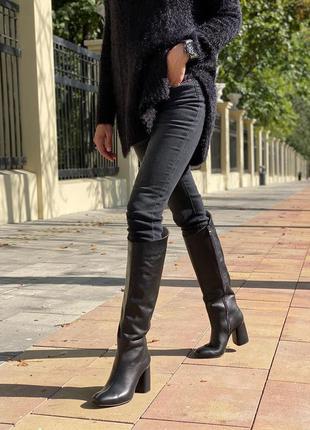 Сапоги/ботфорты кожаные/кожа демисезон/зима