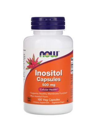 Инозитол, 500 мг, Now Foods, 100 капсул