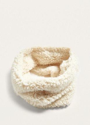 Теплый плюшевый шарф снуд хомут