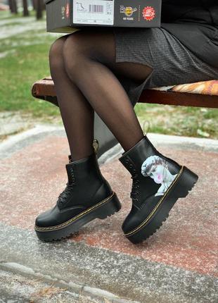 Черевики dr. martens jadon david michelangelo fur ботинки зимн...