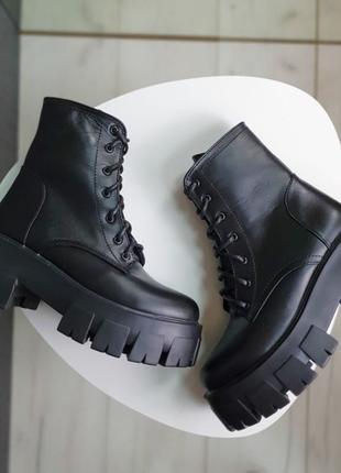Кожаные зимние ботинки, тренд этой зимы